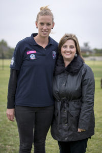 HFC Youth Girls supported by Melton Cr Lara Carli and Western Bulldogs star Lauren Spark.